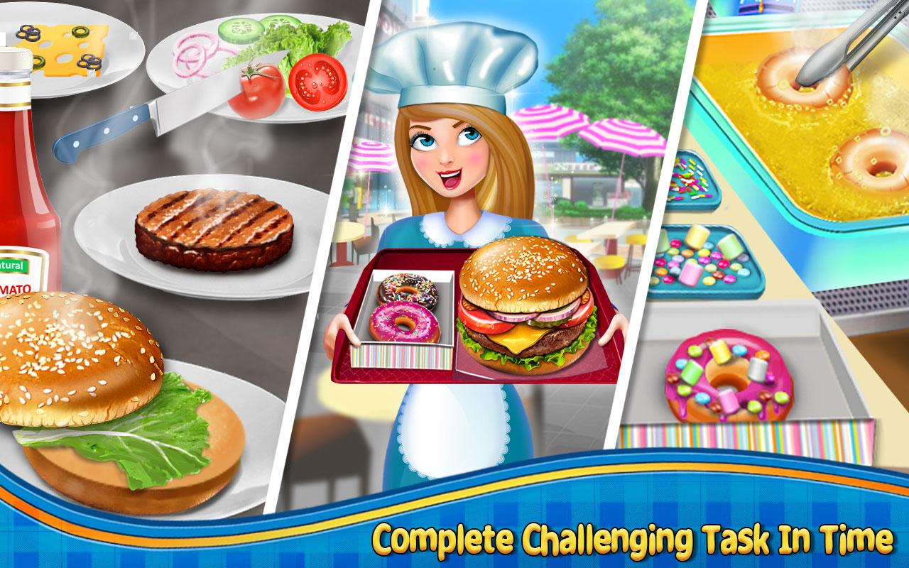 Crazy Burger Recipe Cooking Game: Chef Stories- screenshot