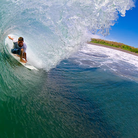 Randy Townsend by Trevor Murphy - Sports & Fitness Surfing ( surfing, barrels, green )