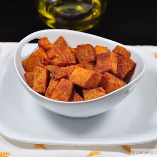 Roasted Spicy Sweet Potatoes