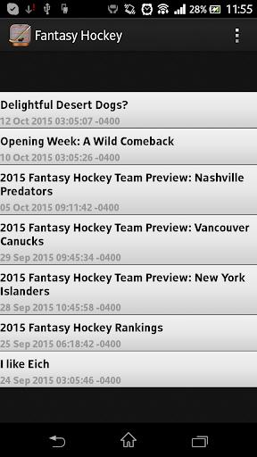 Fantasy Hockey News