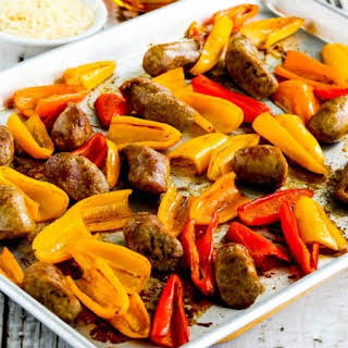 Easy Recipe for Roasted Bell Peppers and Red Onions with Turkey Italian Sausage (and Moving!).