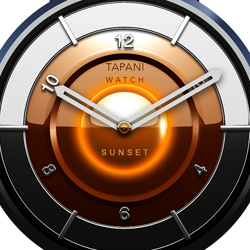 Sunset watch face wearable
