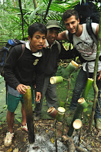 Photo: English guide Mr Somhack, local guide Mr Singthong and Tourists-3 Days Nam Ha Jungle Campin Luang Namtha, Laos