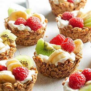 Granola Cups with Yogurt and Fruit.