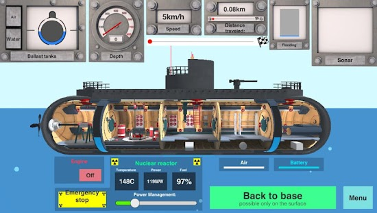 Nuclear Submarine inc Screenshot