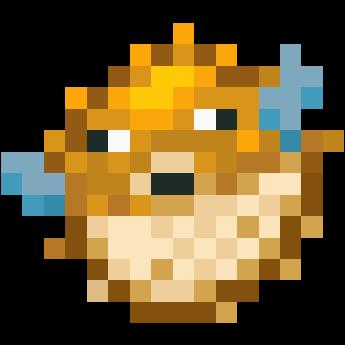 Pufferfish nova skin for Minecraft fish skin