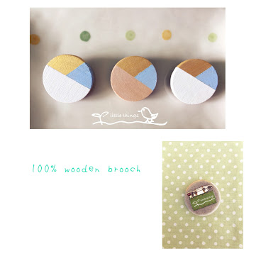 100% wooden brooch