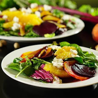 Roasted Beet Orange and Pistachio Salad #MeatlessMonday