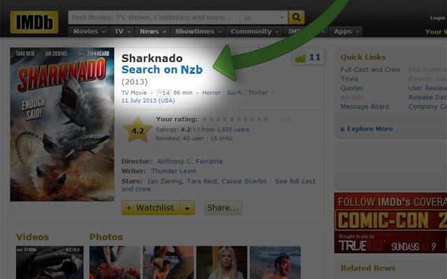 Add Nzb Search Link To IMDb