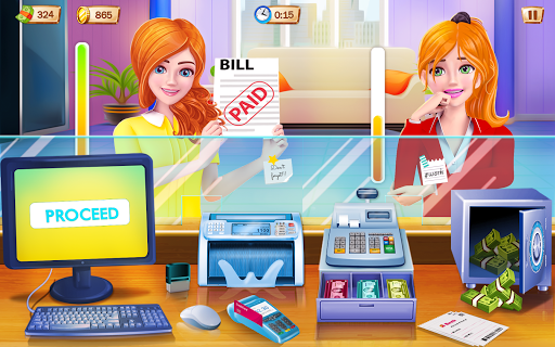 Bank Cashier and ATM Machine Simulator  screenshots 1