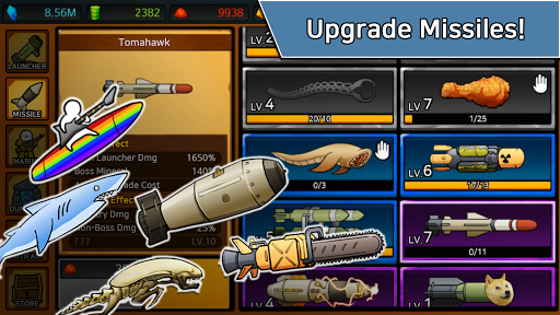 [VIP]Missile Dude RPG: Tap Tap Missile apkpoly screenshots 5