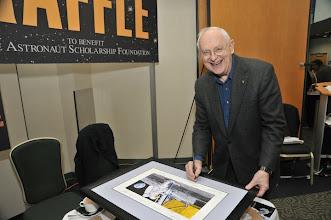 Photo: Moonwalker Alan Bean of Apollo 12, Skylab 3 signing memorabilia to be auctioned...
