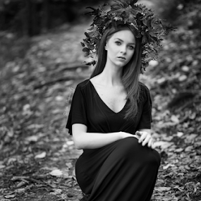 Nymph by Andrei Grososiu - Black & White Portraits & People