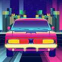High Speed Neon Car Endless Driving Simulator Game icon