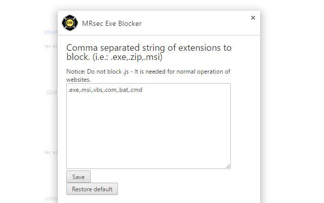 MRsec Exe Blocker