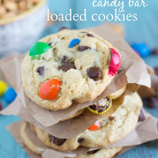 Take 5 Candy Bar Loaded Cookies
