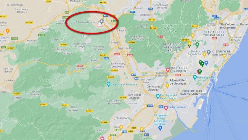Sant Andreu de la Barca, donde se han producido los hechos, es un municipio cercano a Barcelona. /Google Maps