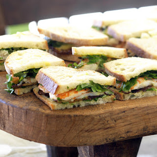 Crayfish Sandwiches with Eggplant, Watercress and Mayonnaise