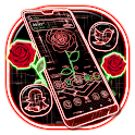Laser Rose Launcher Theme icon