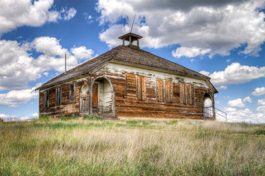 Old School by Jim Talbert - Buildings & Architecture Decaying & Abandoned ( hdr, colorado, landscapes, landscape, abandoned )