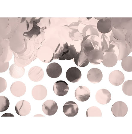 Konfetti cirklar - roséguld