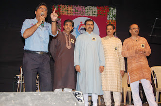 Photo: Host, Manoj, Sharad, Dr. Inamdar, Uday