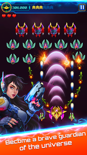 Space attack - infinity air force shooting screenshot 11