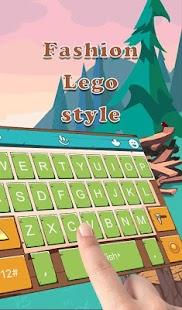 Fashion Lego Style Keyboard Theme - náhled