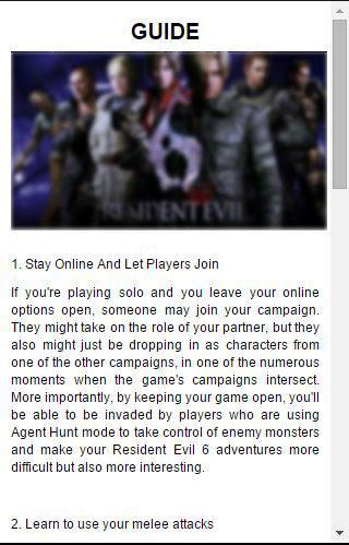 Best Guide for Resident Evil 6
