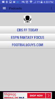 Screenshot of Fantasy Football News 2015