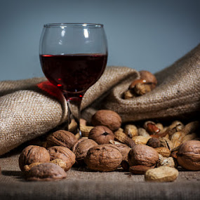Red Wine by Tasos Triantafyllou - Food & Drink Alcohol & Drinks ( studio, wine, red, red wine, still life, glass wine, photoshooting )