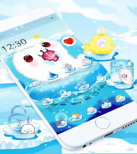 Aquarium Sea Seals Theme Wallpaper for PC