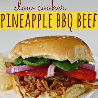 Slow Cooker Pineapple BBQ Beef.