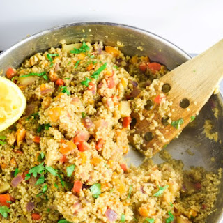One Pot Moroccan Quinoa with Red Lentils.