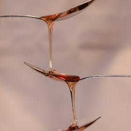 Slow motion honey by Debbie Slocum Lockwood - Abstract Macro (  )