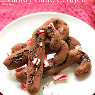 Chocolate Candy Cane Crunch Cookies.