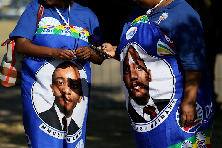 Democratic Alliance supporters at the party's Federal Congress in Tshwane on April 7 2018.