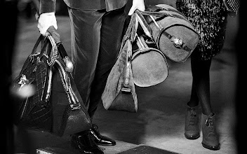 Photo: The Orchard and Barrel Bags from the Burberry runway - on set at the A/W12 campaign