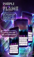 Screenshot of Purple Flame GO Keyboard