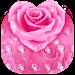 Pink Rose Dew Drops keyboard icon