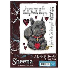 Sheena Douglass A Little Bit Sketchy A6 Stamp Set - I Love YOu UTGÅENDE