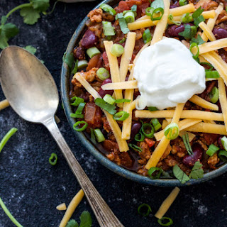 Healthy Slow Cooker Turkey Chili.
