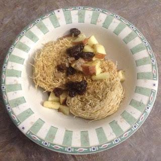 Shredded Wheat with Apples & Raisins