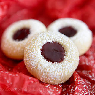 Lemon Raspberry Thumbprint Cookies.