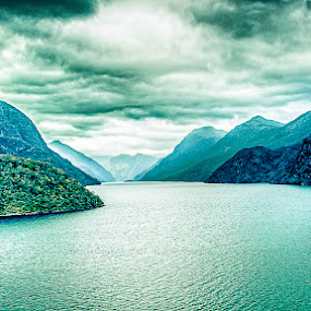 Fantastic Fjordland, New Zealand by Tony Buckley - Landscapes Mountains & Hills ( clouds, sky, waterscape, new zealand, fjord )