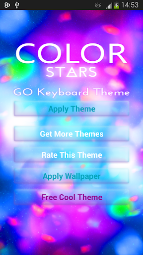 Color Stars GO Keyboard Theme