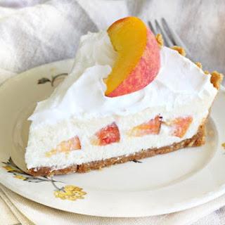 No Bake Peaches & Ice Cream Pie