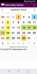 2018 Indian Festivals Calendar Adfree + Widget - náhled