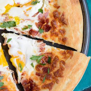 Bacon Egg Breakfast Pizza.