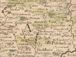 Photo: Mapa z roku 1742. Prestoze Kramce byly zminovany jiz drive na teto mape chybi. Mapa z roku 1742 http://archivnimapy.cuzk.cz/cio/data/sbirka_I/I-1-116/I-1-116_icon.jpg
